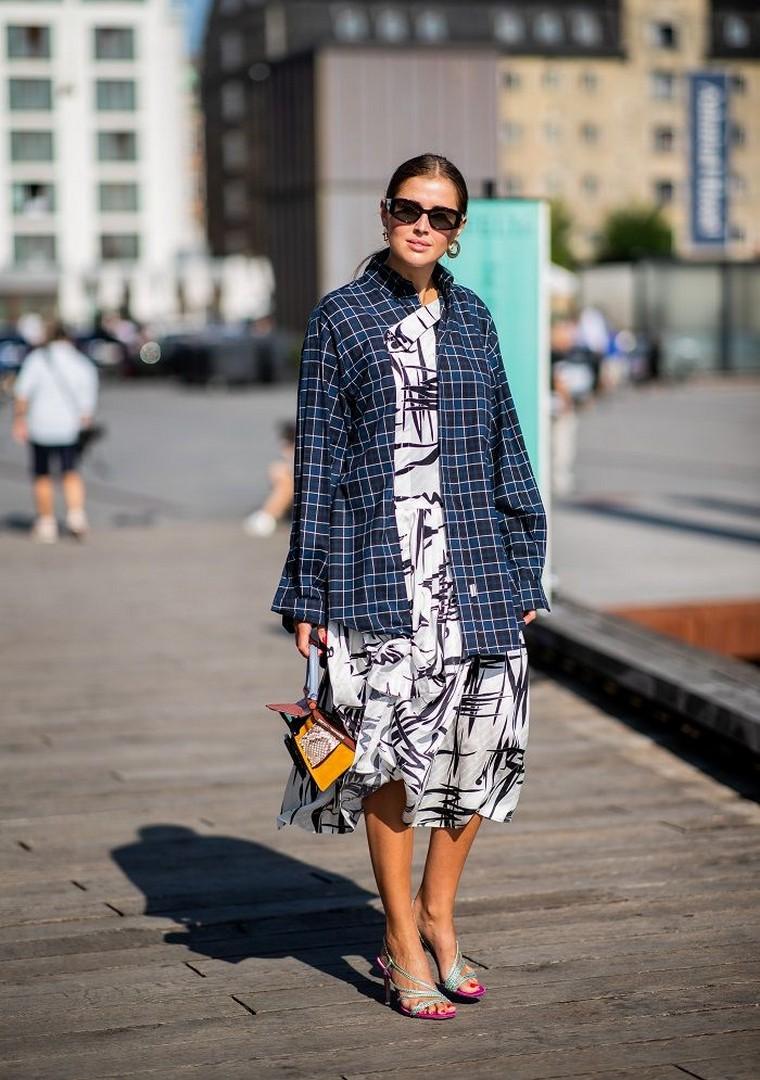 plaid jacket dress pattern idea holding