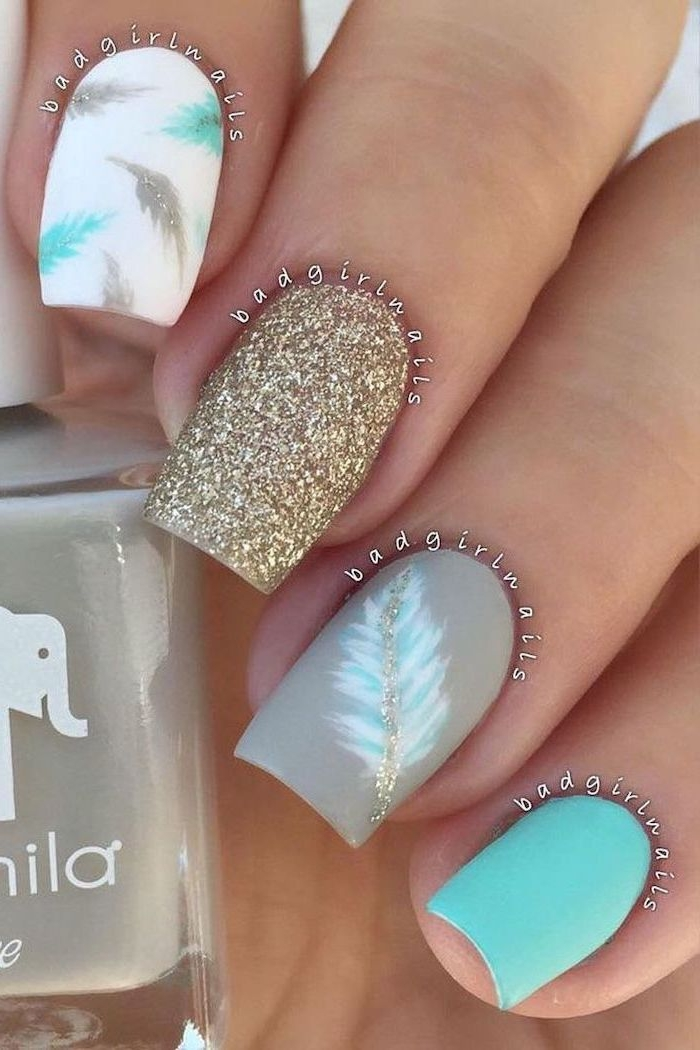 Deco nail ideas seaside