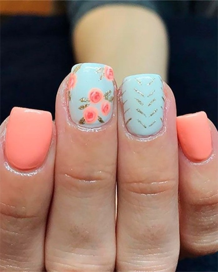 Deco nails summer for the beach