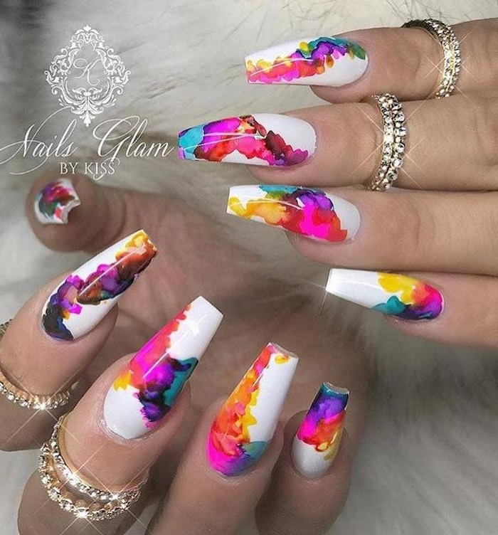 Nail art shape and deco nail summer