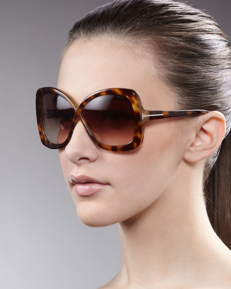 trendy sunglasses 2019 butterfly shape woman Tom Ford