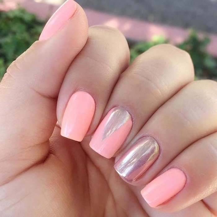 Summer fashion and nail deco idea
