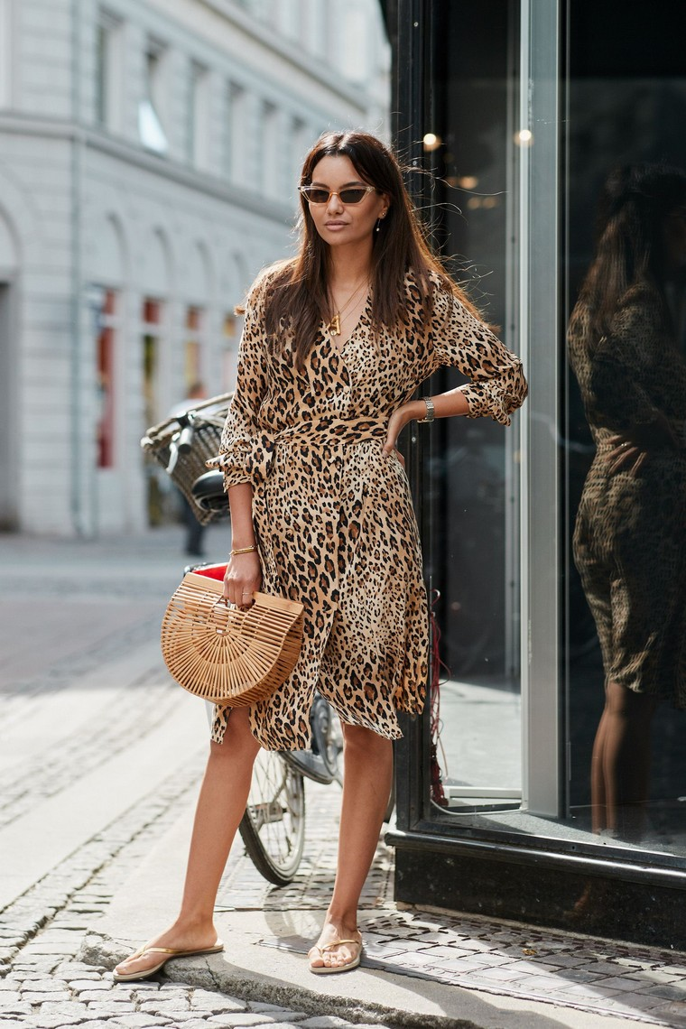 leopard dress idea idea dress summer street style 2019