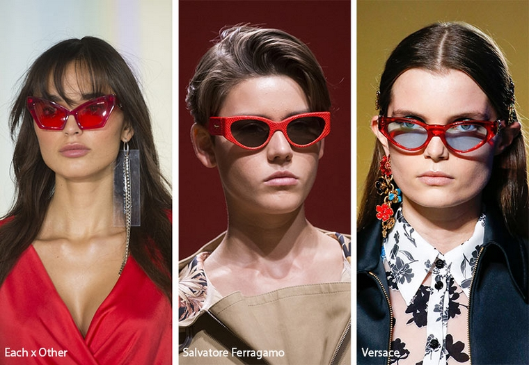 trendy sunglasses 2019 red frame woman