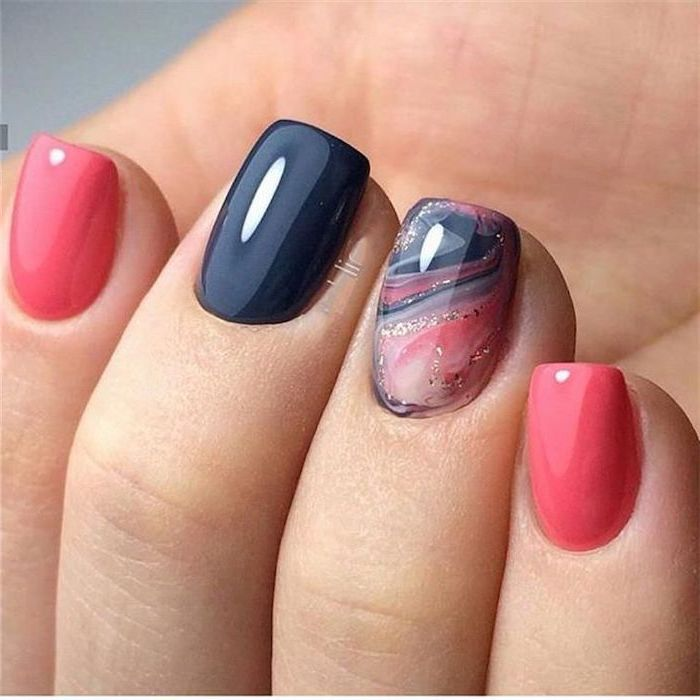 Nail art for summer colors