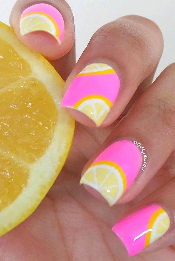 Summer colored nails