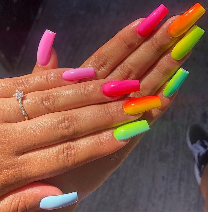 Nails in bright colors