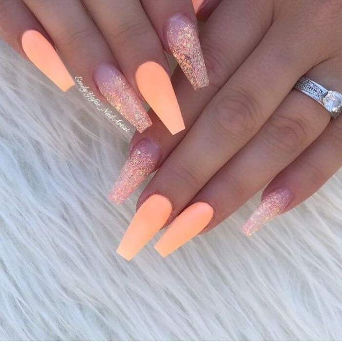 Nails neon idea beach fashion