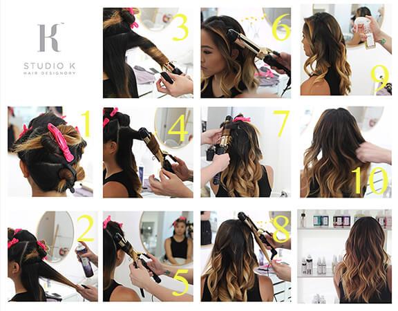 steps make hair waves