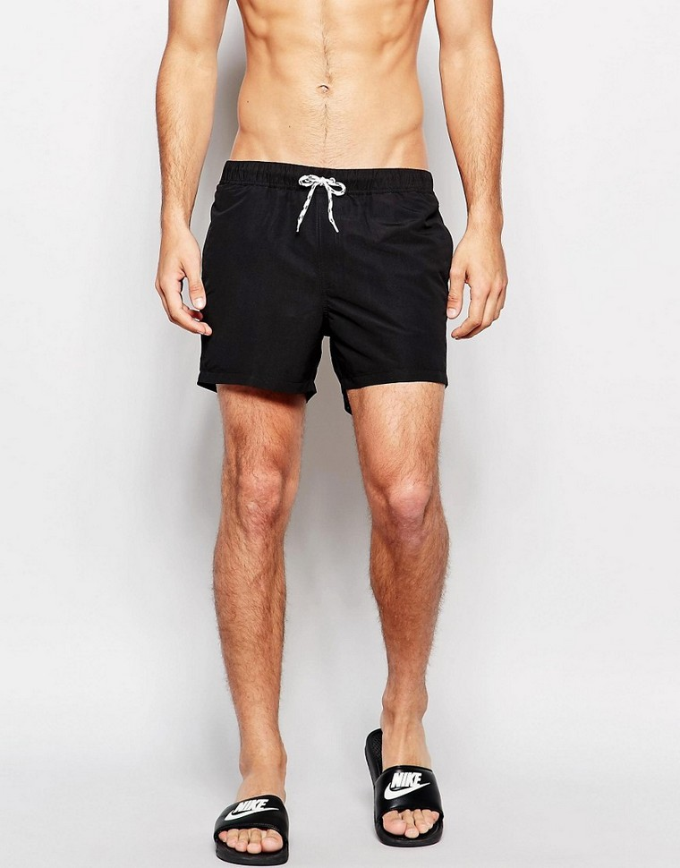 black man swim shorts