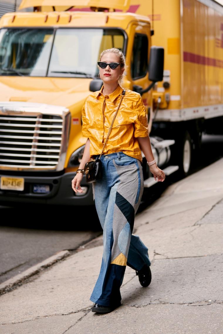 street style fashion woman jeans new york
