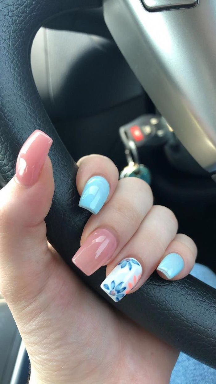 Trendy summer nail decor