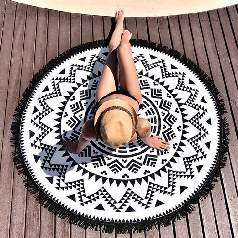 beachwear - accessories - white and black pareo