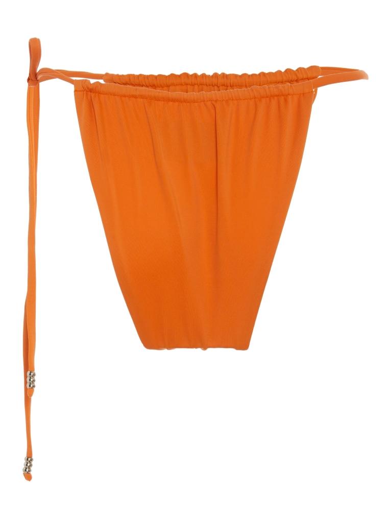 beach outfit - orange bikinis