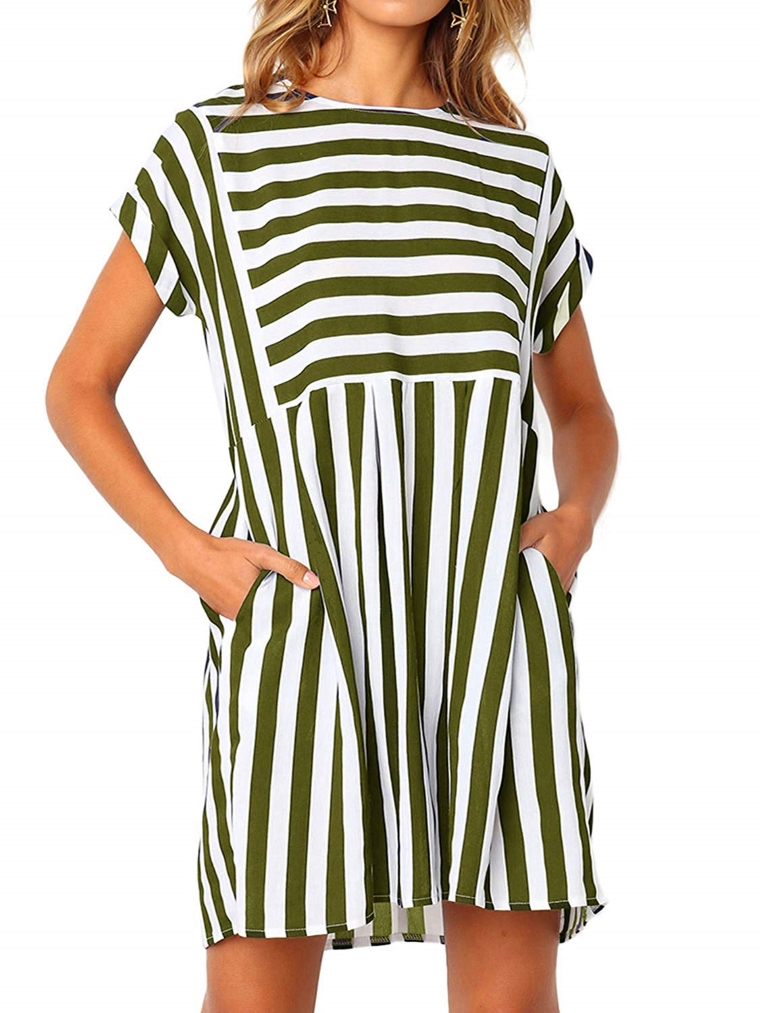 beach outfit - striped dress