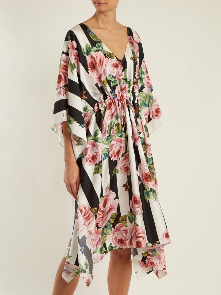 beachwear - accessories - silk dress with floral design