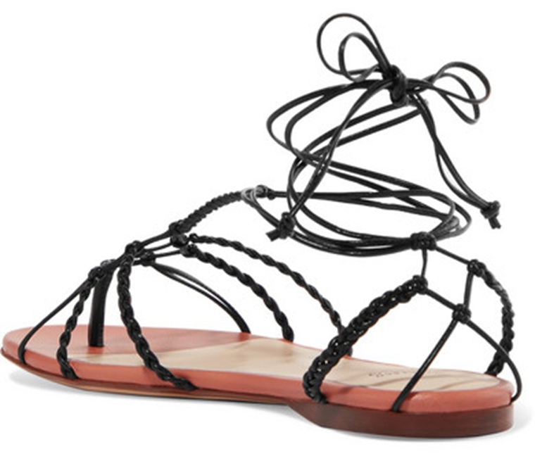 beachwear - accessories - black sandals with thin straps Francesco Russo