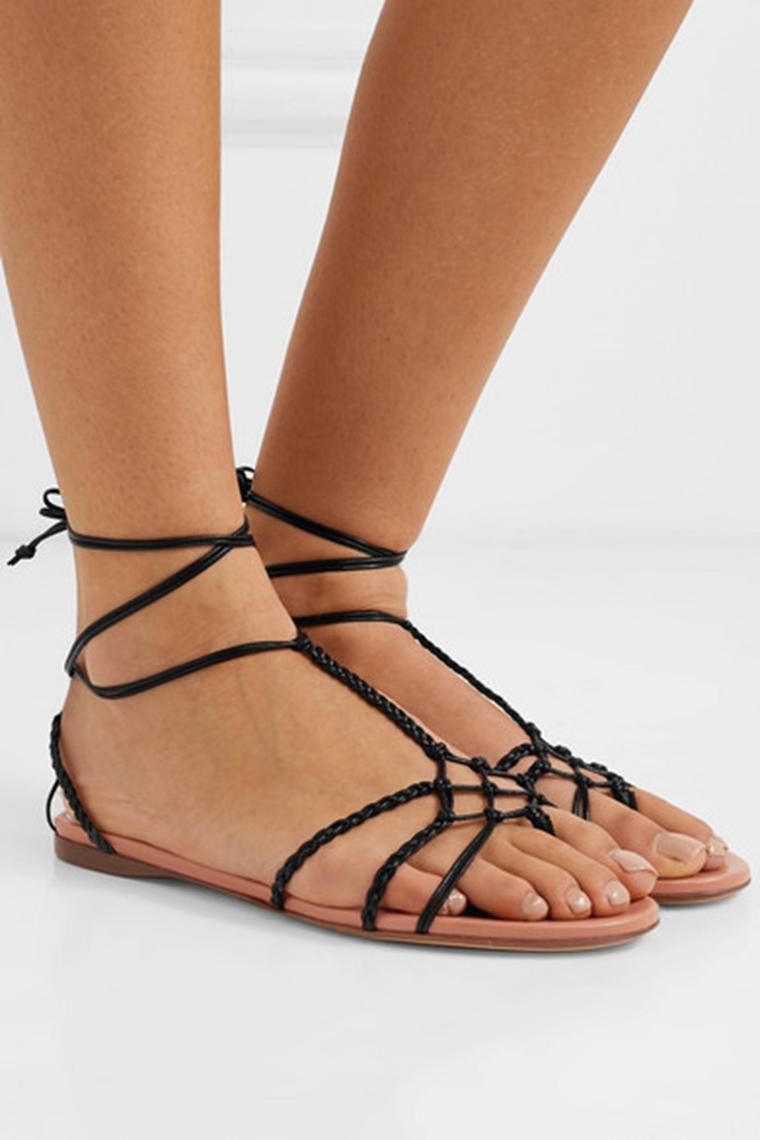 beachwear - accessories - black sandals Francesco Russo