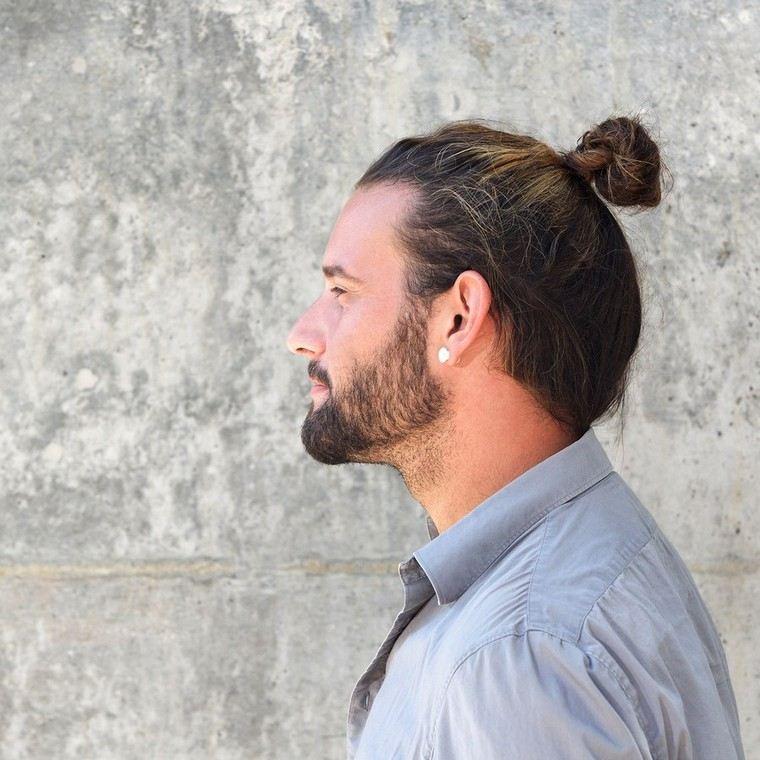 man beard look long hair idea hairstyle