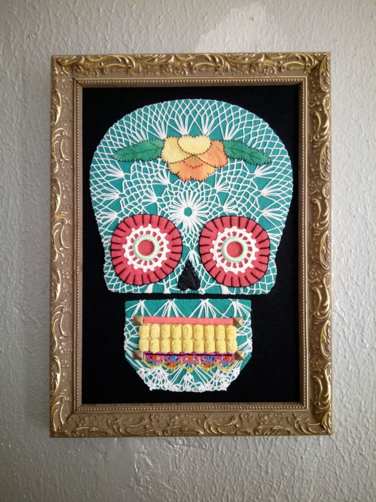 deco board traditional death skull