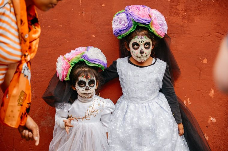 mexican skull child death makeup