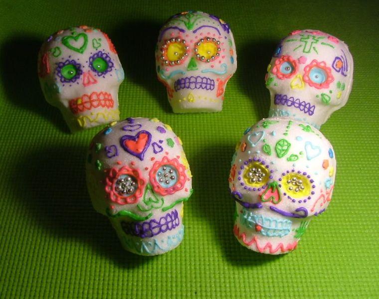 little suede death skulls