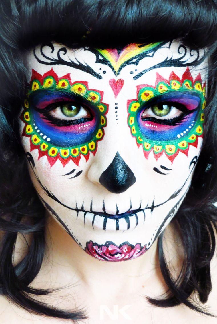 colorful makeup skull