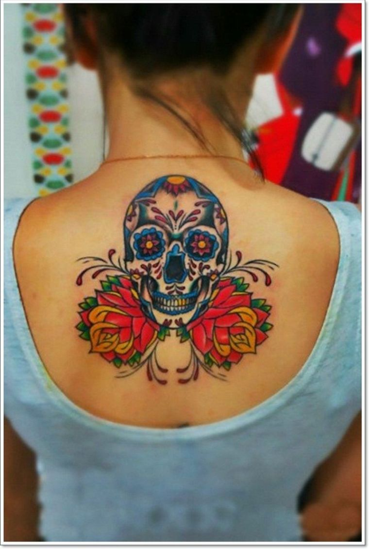 mexican back tattoo
