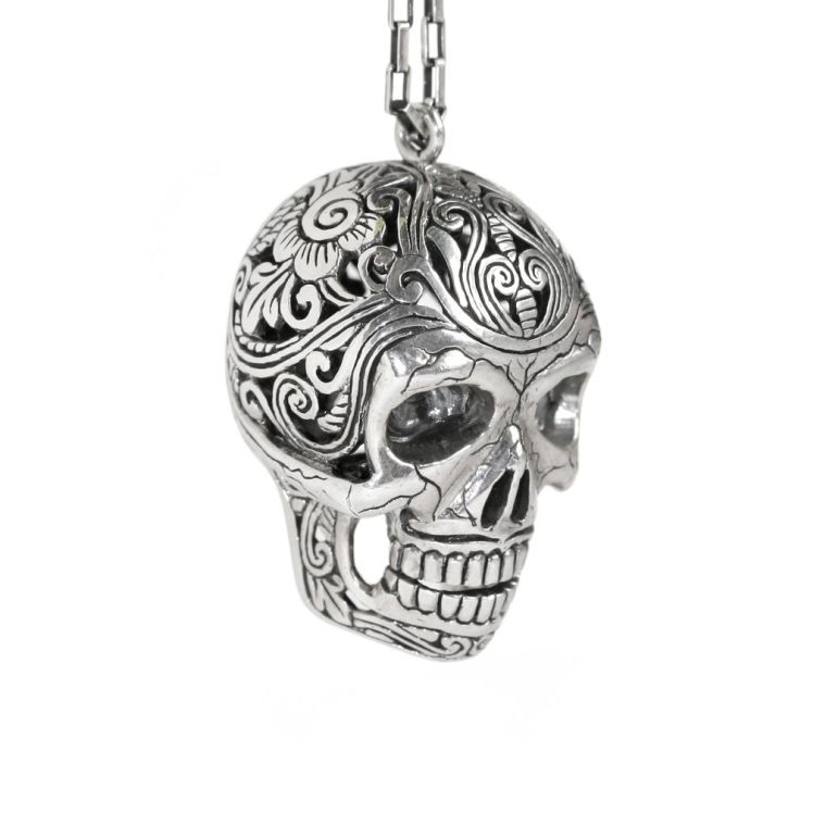 jewelry in the shape of Mexican sugar skull