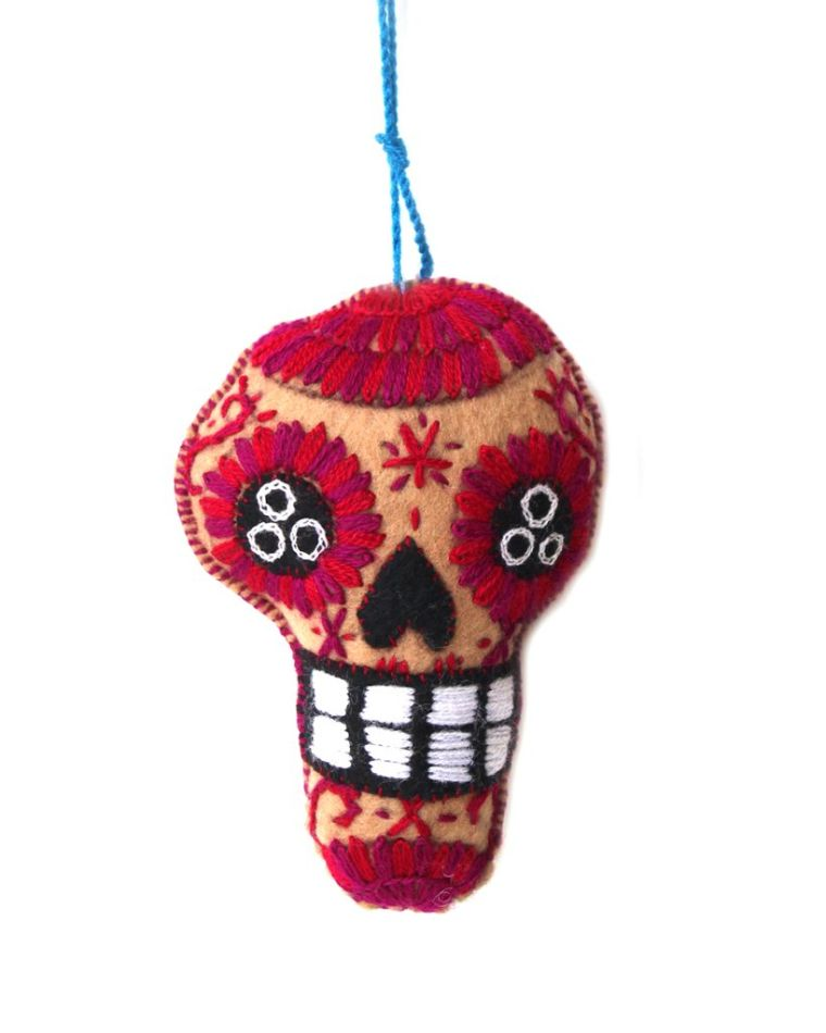 decorative object in Mexican skull shape