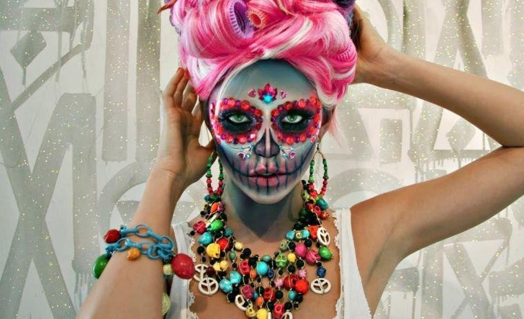 original idea of mexican skull makeup