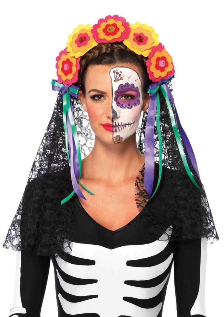 makeup with mexican skull