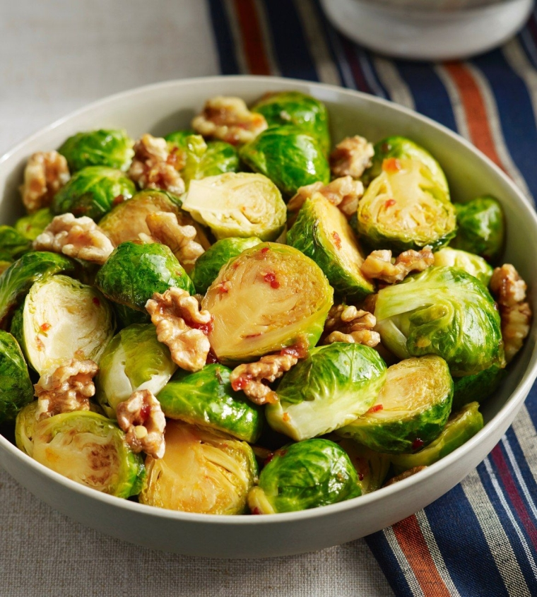 good food for the heart and sprouts of Brussels