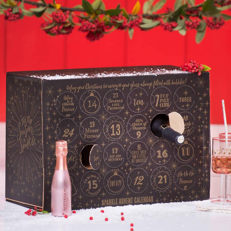 original box prosecco Christmas calendar