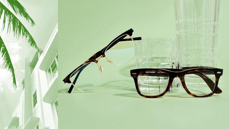 browline trendy man glasses