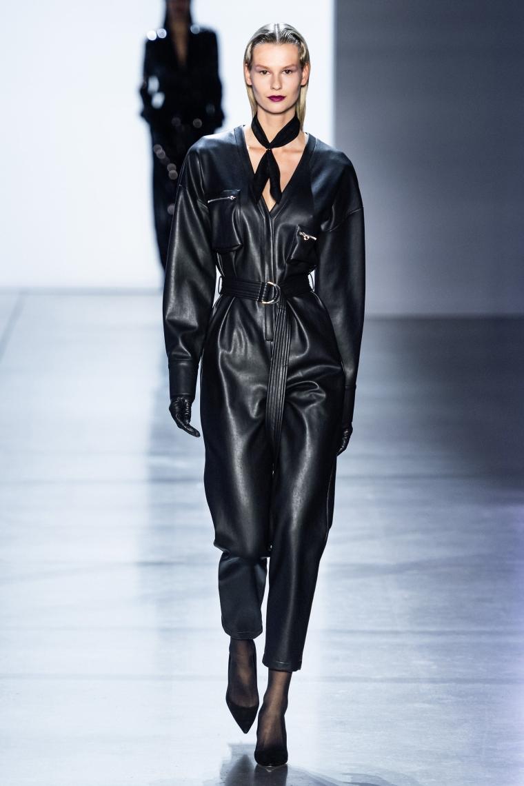 manteau cuir noir pour femme
