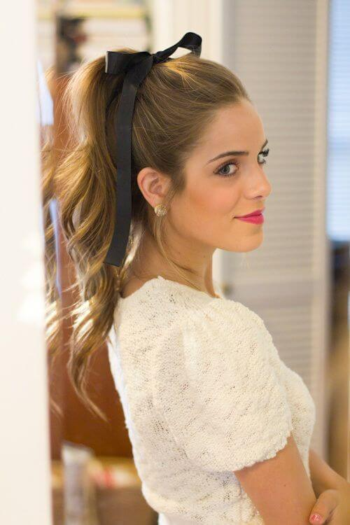 hairstyles with high ponytail waves