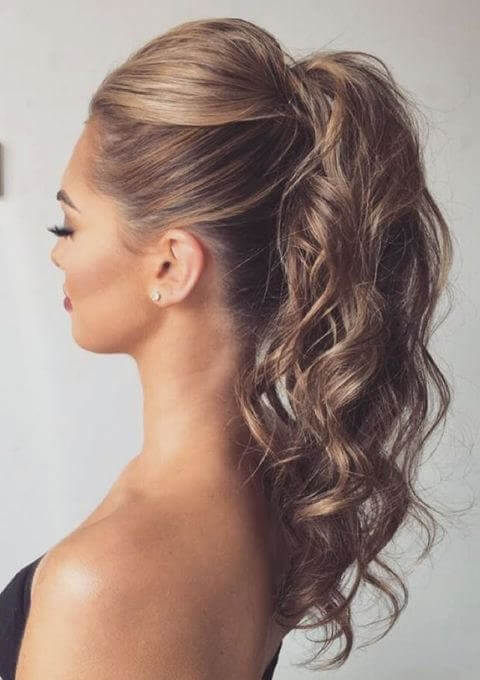 Hairstyles with volume pigtail waves