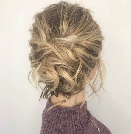 messy mono wave hairstyles