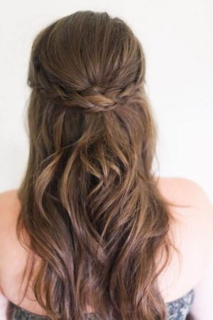 semi-picked wedding hairstyles