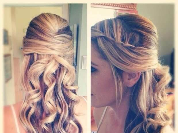 semi-picked wave hairstyles