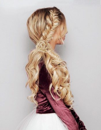 Hairstyles with braid fishtail waves