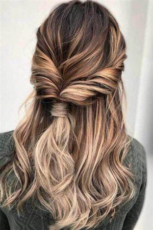 hairstyles waves semi coletita braid
