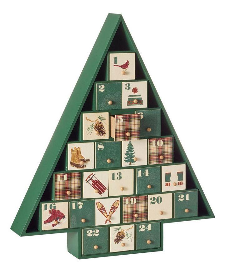 Christmas tree advent calendar small drawers