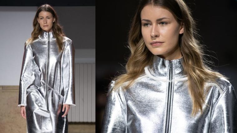 manteau argent tendance mode hiver 2019-2020