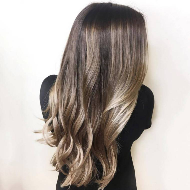 blond brown colored hair