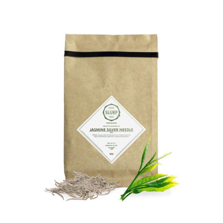 green tea silver needele with jasmine