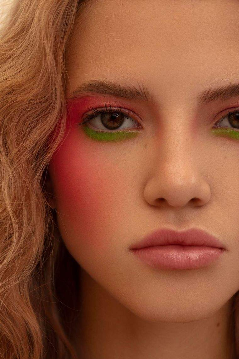 neon color makeup