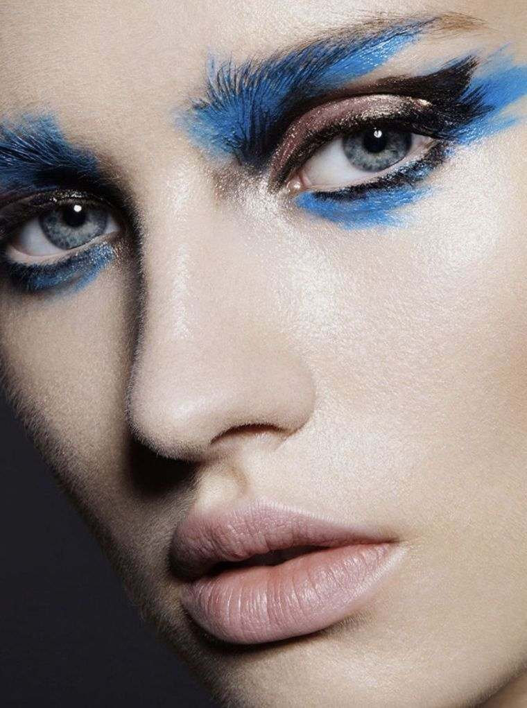 shaded blue makeup