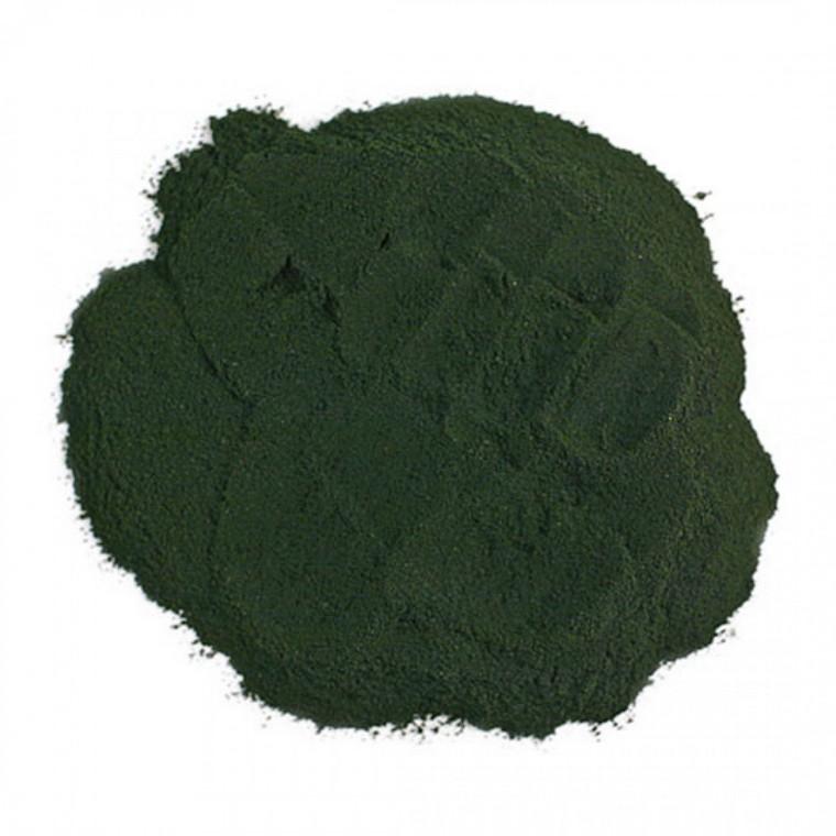 dark green powder nutritional element